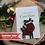 Thumbnail: Funny Personalised Christmas Card, Handcrafted Santa Reindeer Keepsake Daughter