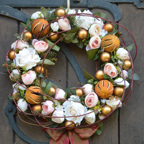 Handmade Christmas Wreath, Artificial Christmas Wreath For Front Door