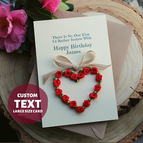Quirky Quarantine Card For Husband, Romantic Birthday Gift For Him
