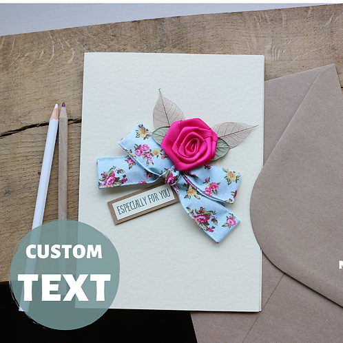 Custom Mothers Day Gift, Shabby Chic Ditsy Floral Card For Mum