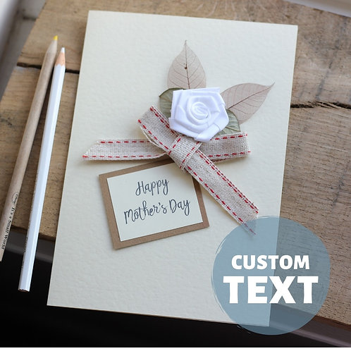 Stylish Mother's Day Card, Personalised Handmade Card For Mum