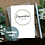 Thumbnail: Handcrafted Card Will You Be My Bridesmaid, Rustic Green and Cream Roses Wreath