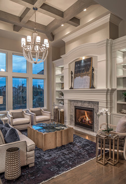 Fireplace wall cabinetry