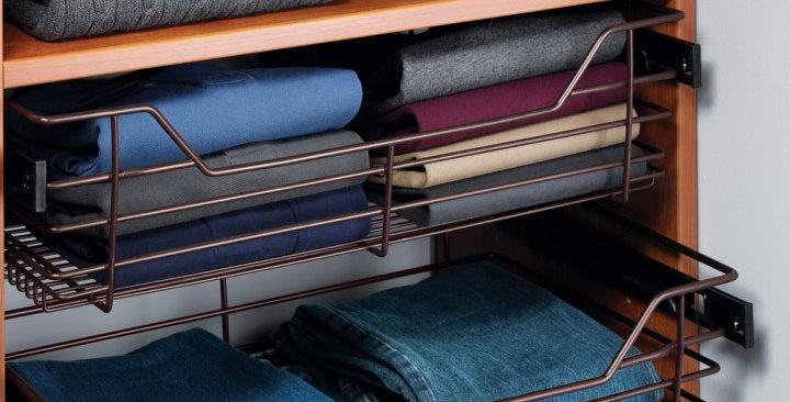 Closet Storage Basket with Slides [1]