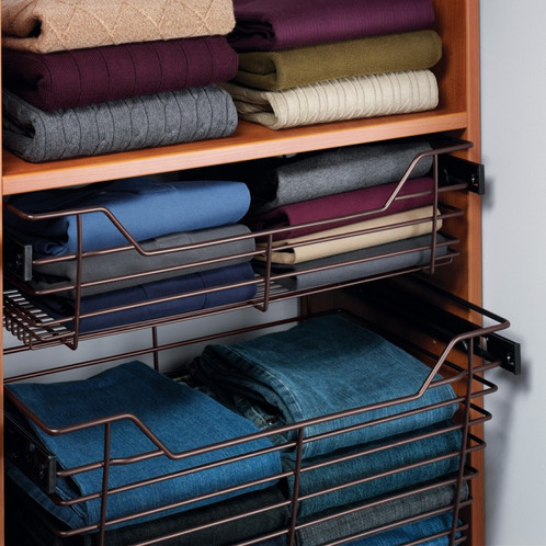 Closet Storage Baskets With Slides Comes In 4 Standard Sizes 14 D X 18 24 Or 30 Wide Also Choose From Height Of Either 7 11