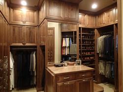 Dark Walnut Custom Closet