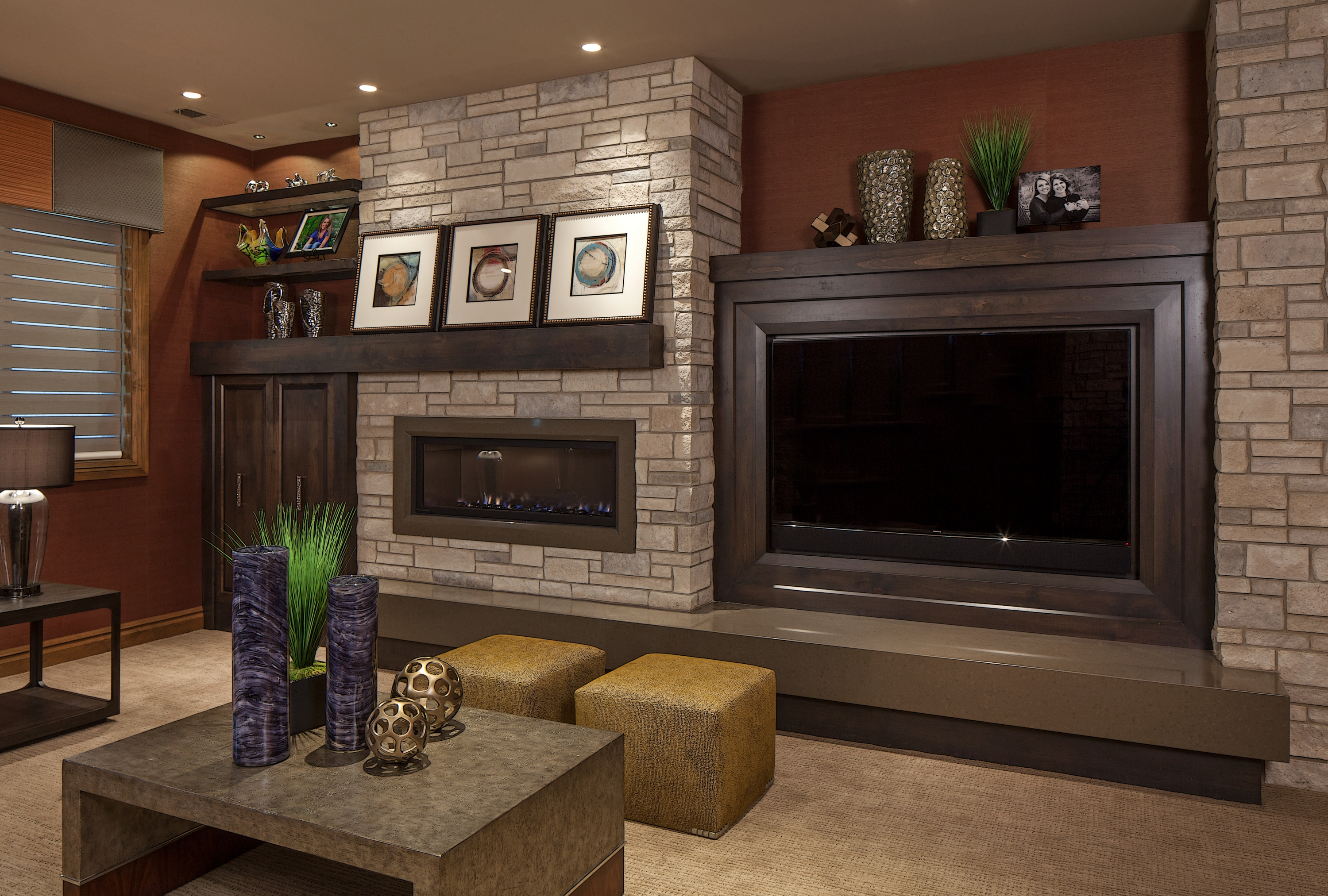 Transitional Entertainment Center