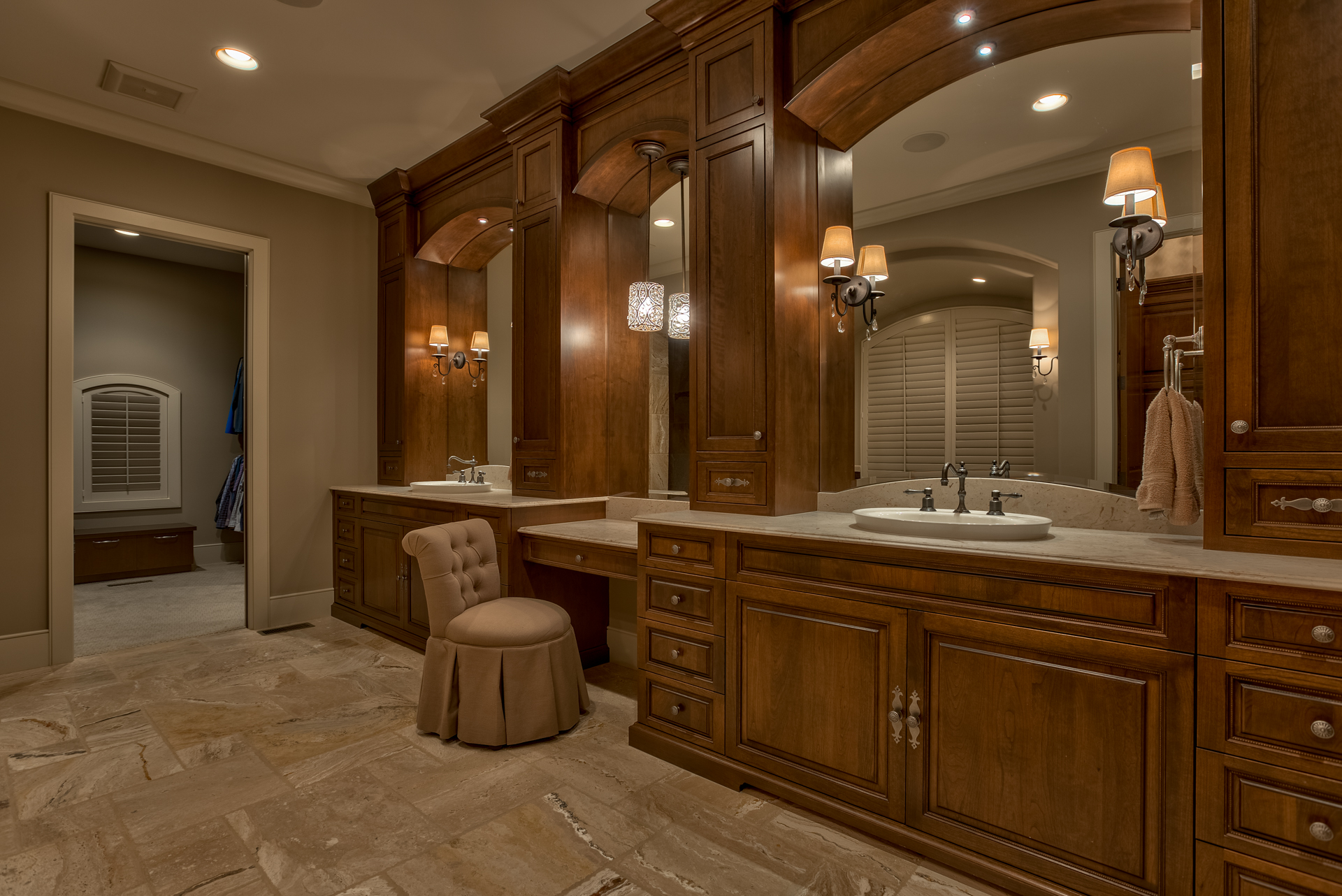 Cherry Wood Master Bath