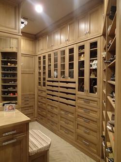 White Oak Custom Closet