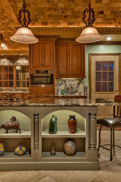 Cherry and Painted Cabinets