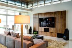 Living room wall paneling