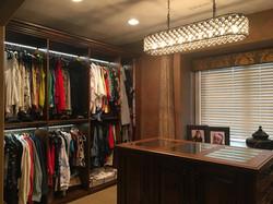 Knotty Alder Master Closet