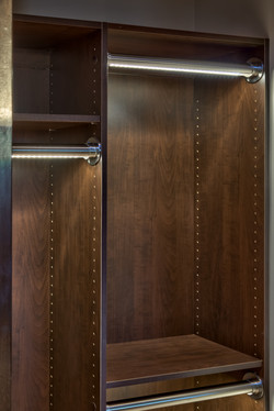 LED Closet Rods by Eurowood Cabinets