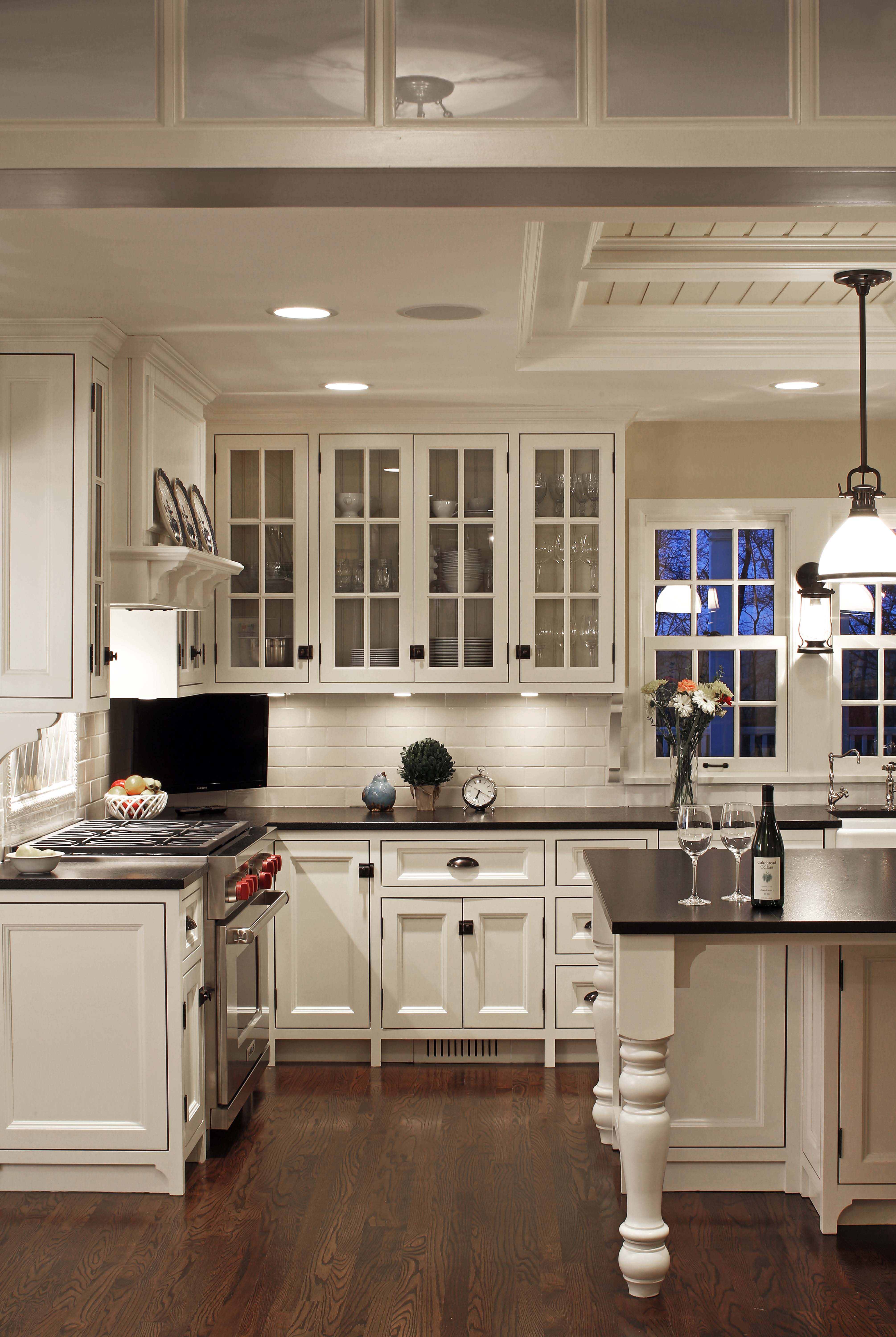 White Painted Face Frame Cabinetry