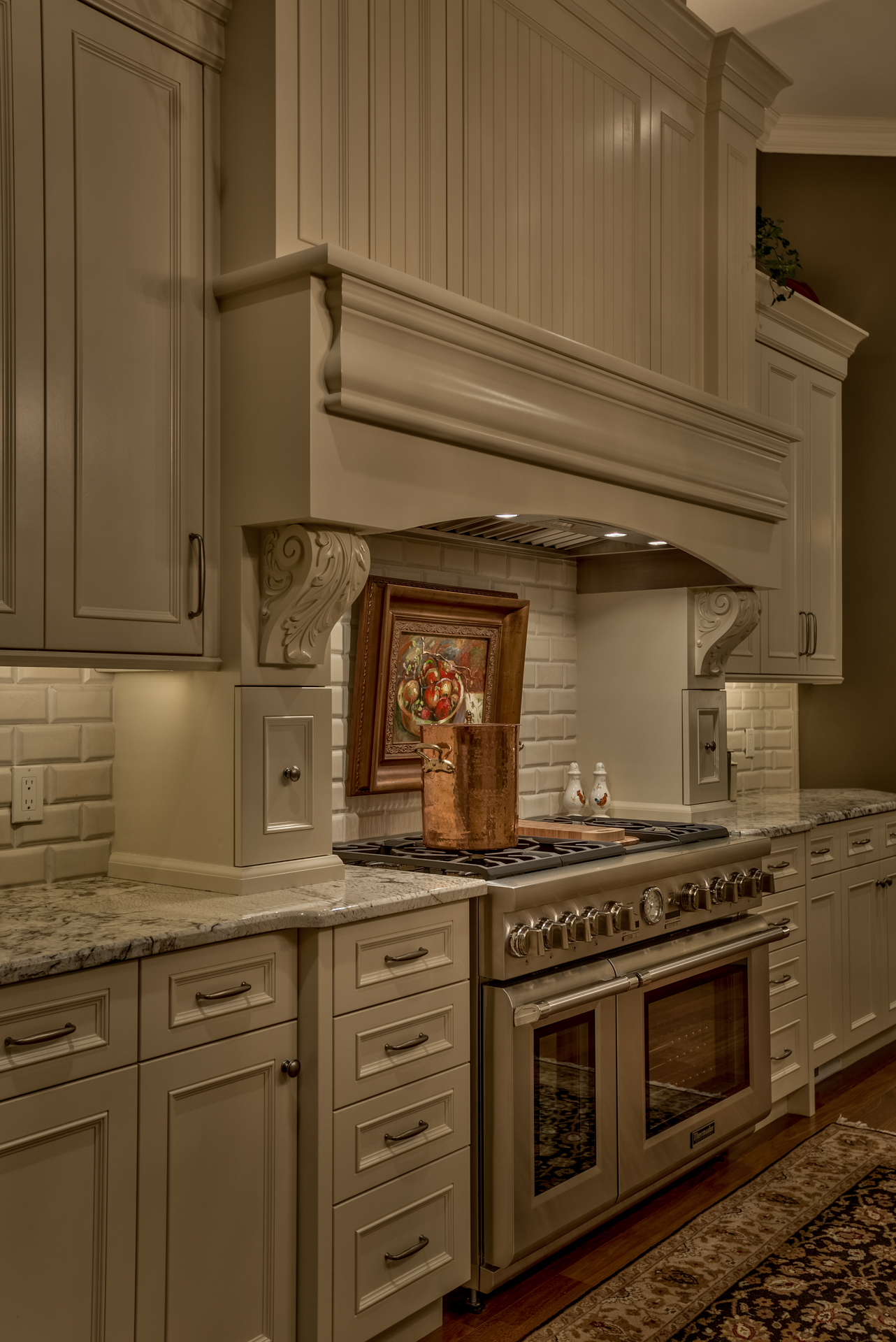 Painted Cabinets w/ Detailed Molding