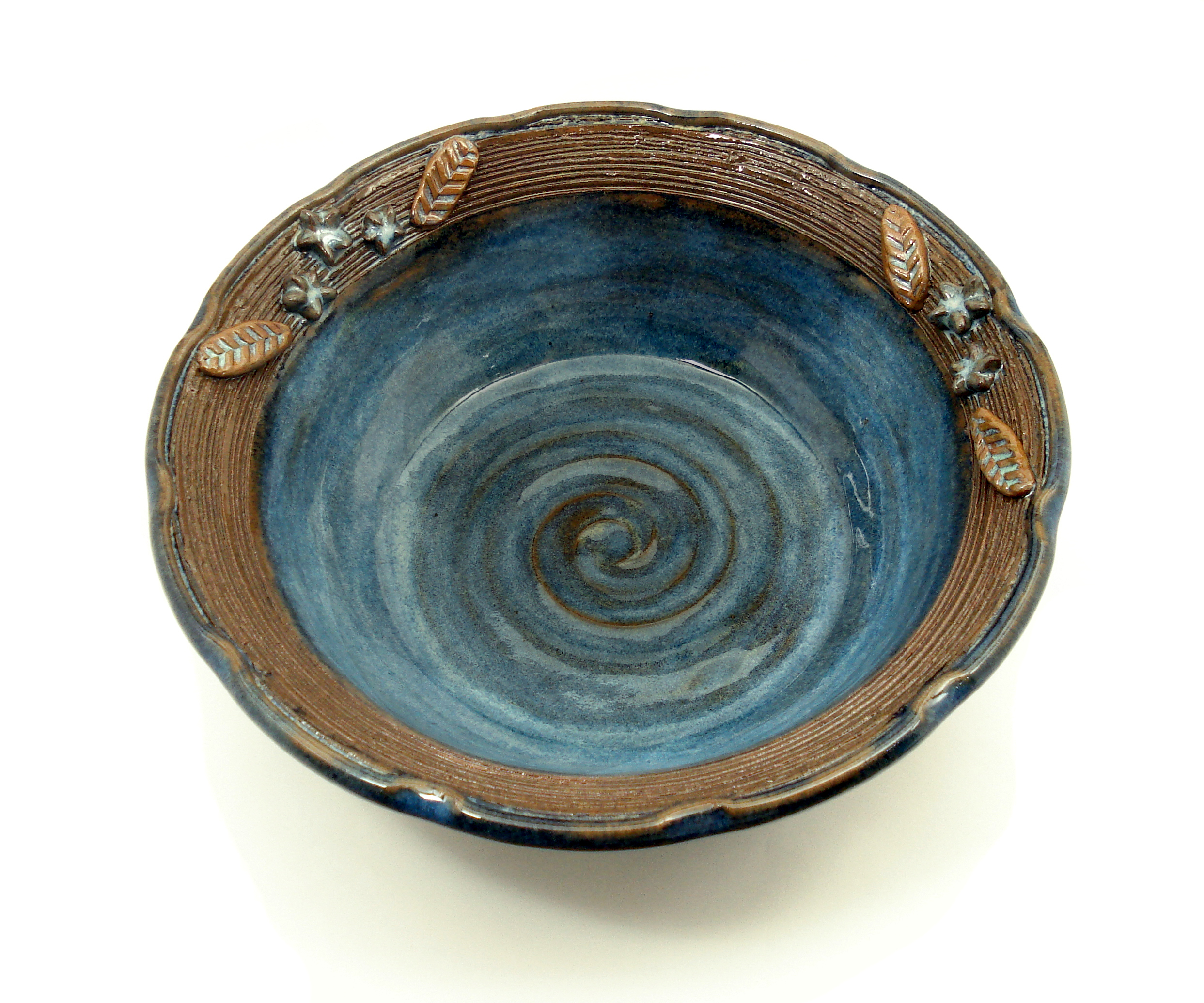 blue 3D flower bowl