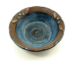 blue 3D flower bowl
