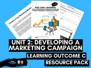BTEC Business L3 Unit 2: Developing a Marketing Campaign Learning Outcome C