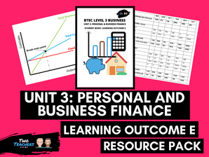 BTEC Business L3 Unit 3: Personal and Business Finance Learning Outcome E