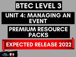 Unit 4: Managing an Event Premium Resource Packs Coming 2022