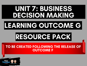 Unit 7: Business Decision Making LOG Created Following Outcome F