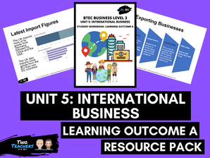 BTEC Business L3 Unit 5: International Business Learning Outcome A