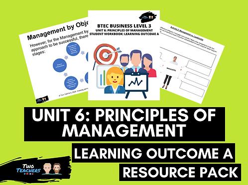 BTEC Business Unit 6: Principles of Management Resource Pack