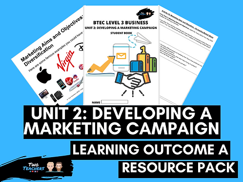 Unit 2: Developing a Marketing Campaign Learning Aim A | Resource Pack