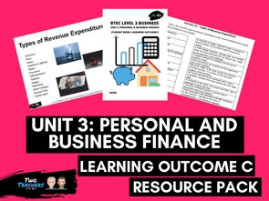 BTEC Business L3 Unit 3: Personal and Business Finance Learning Outcome C