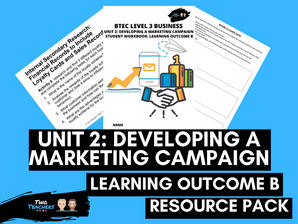 BTEC Business L3 Unit 2: Developing a Marketing Campaign Learning Outcome B