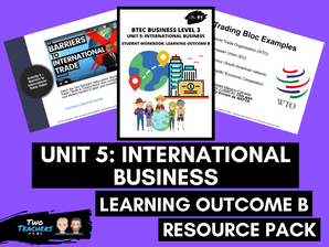 BTEC Business L3 Unit 5: International Business Learning Outcome B