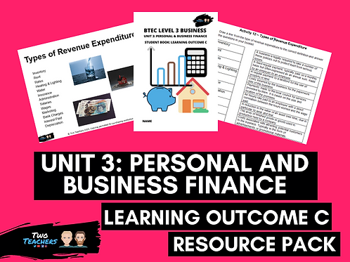 Unit 3: Personal & Business Finance Outcome C Resource Pack