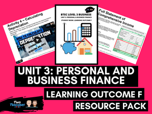 BTEC Business L3 Unit 3: Personal and Business Finance Learning Outcome F