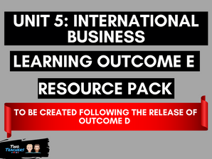 Unit 5: International Business LOE Created Following Outcome D