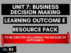 Unit 7: Business Decision Making LOE Created Following Outcome D