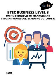 Management Student Unit Work Book Cover.