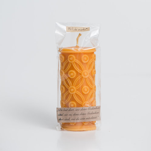 Beeswax candle Flower of Life