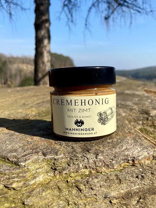 Cream honey with cinnamon