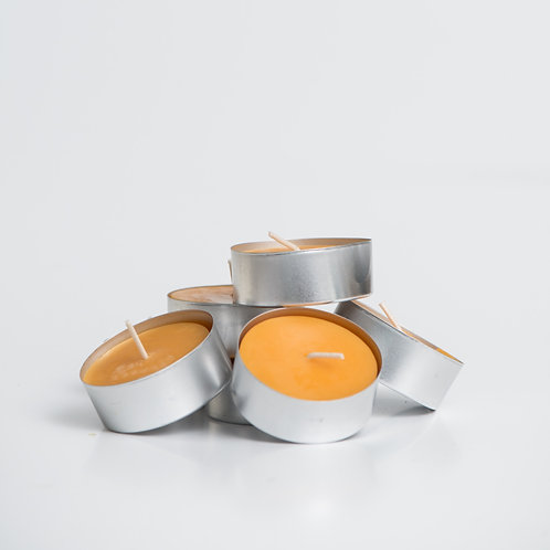Tealight candle set-beeswax 6 pieces