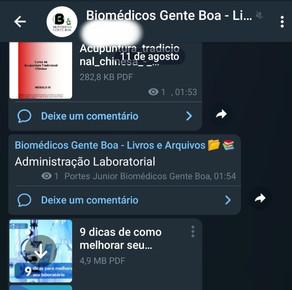 Downloads de Livros - Telegram