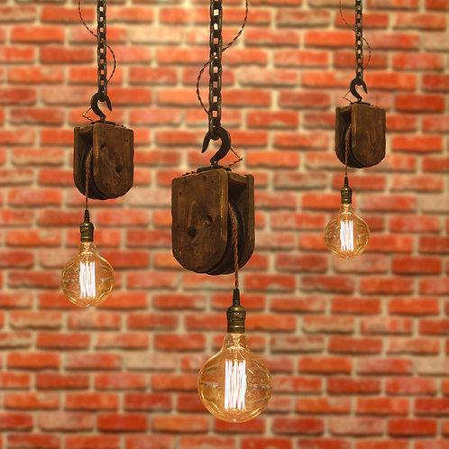 Hand Made Pulley Pendants