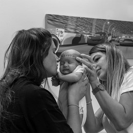 Alex & Mila at the maternity centre - 6 november 2019