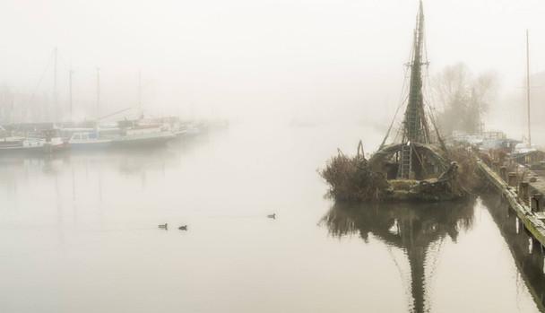 Schepen in de mist