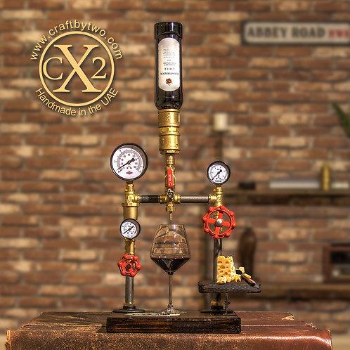 Steampunk Single Wine Decanter w/ Food Platter