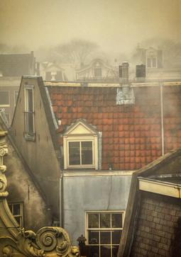Uitzicht op oud Amsterdam