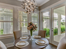 Eat in kitchen Shutters
