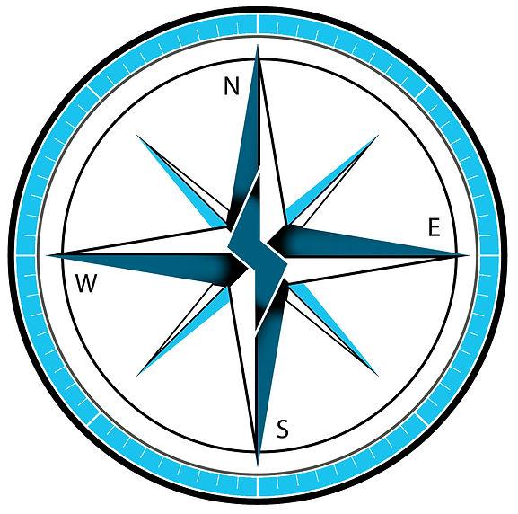 Adventure Marine Aqua Marina Logo Compass