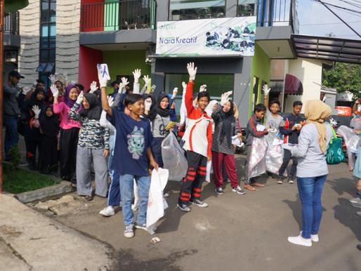 Nara Kreatif Memberikan Sosialisasi Kepada Masyarakat Kampung Dukuh untuk Hari Peduli Sampah Nasiona