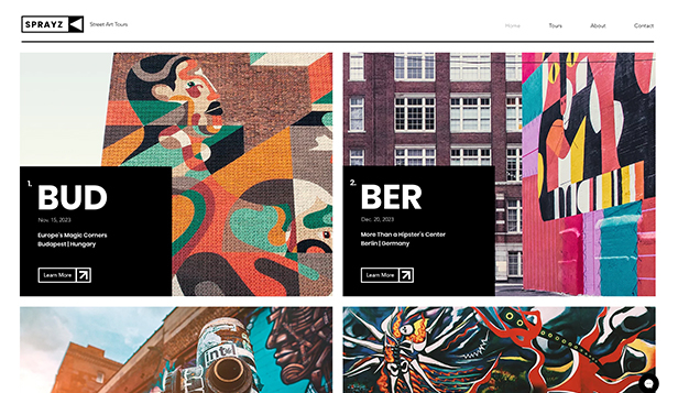Alle templates weergeven website templates – Street art tours