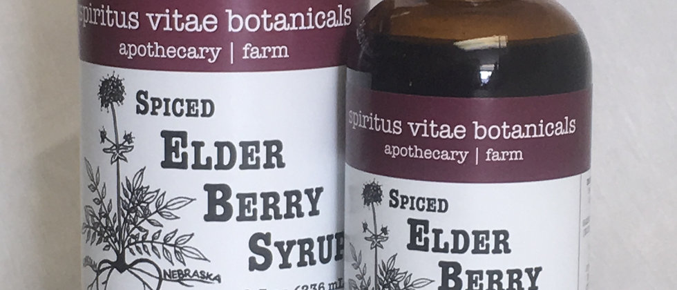 Spiced Elder Berry Syrup